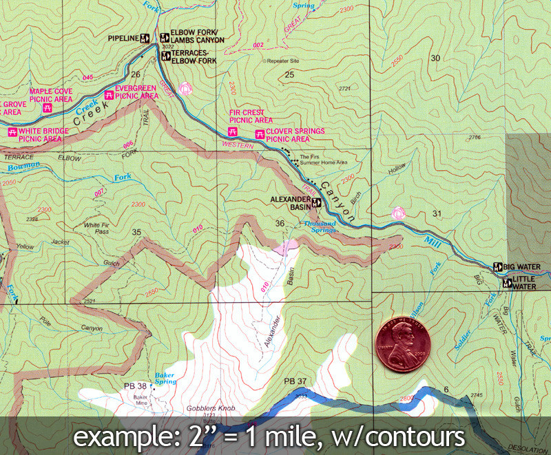 Mount Olympus And Twin Peaks Wilderness Map Rocky Mountain Maps - Olympus map