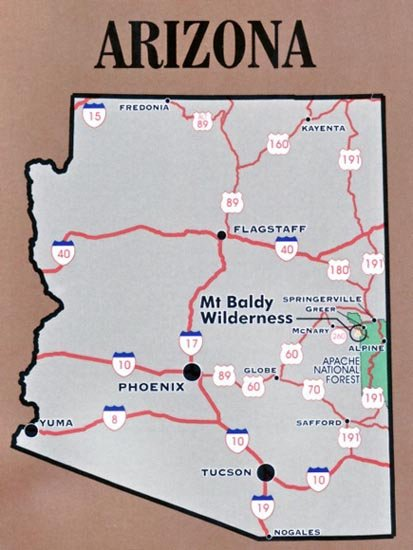 Mount Baldy Wilderness Map Rocky Mountain Maps Guidebooks - Mt baldy map on map of us