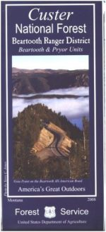 Beartooth Mountains - Custer National Forest Map