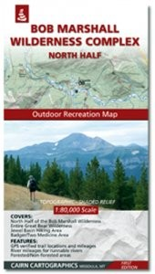 Bob Marshall Wilderness Map - North Half