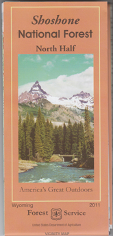 Shoshone National Forest Map North Half Rocky Mountain