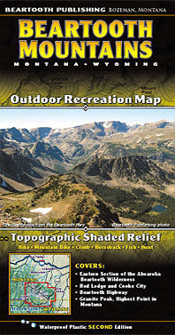 Beartooth Mountains Map