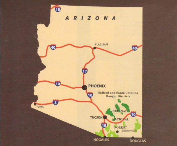 Coronado National Forest Map Safford Santa Catalina