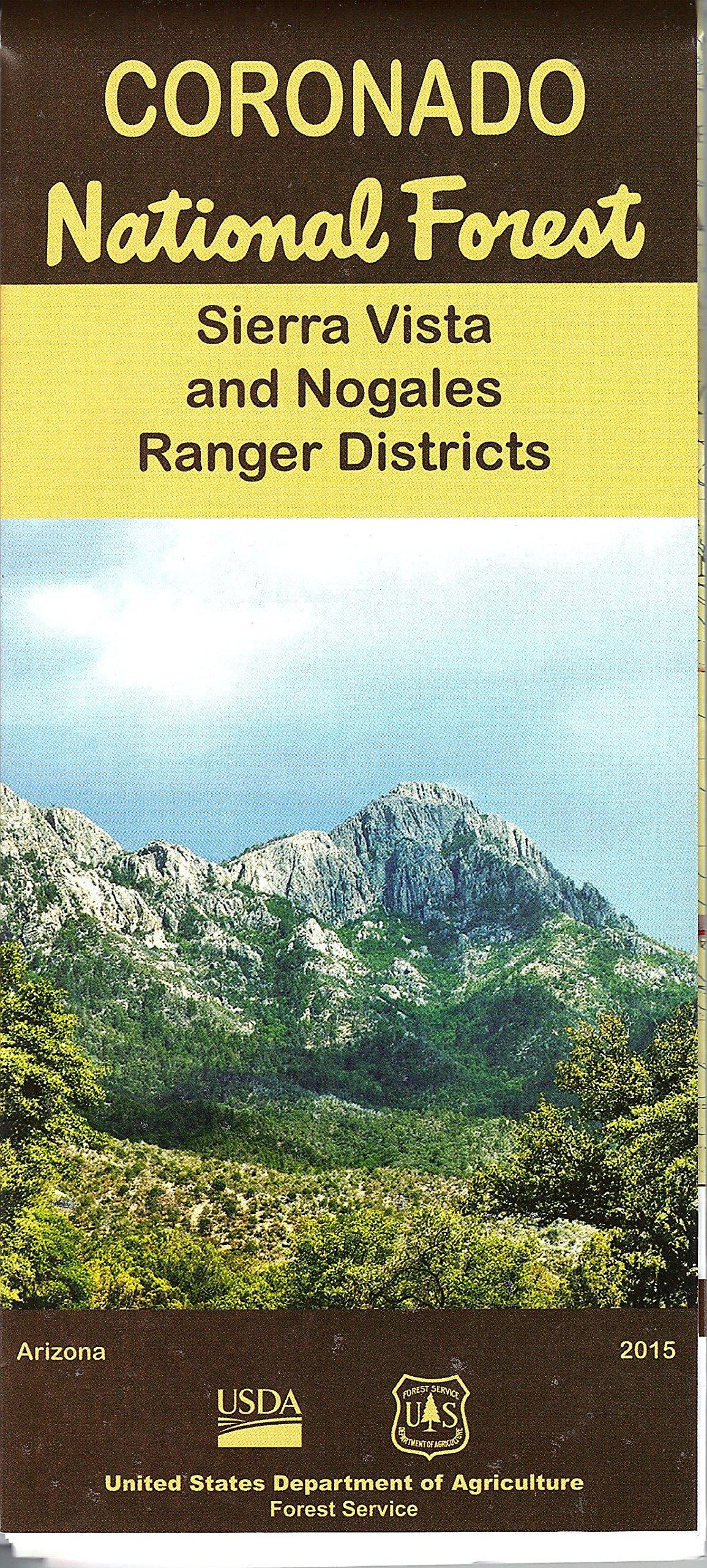 Coronado National Forest Map, Sierra Vista & Nogales Ranger ...