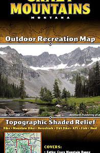 Crazy Mountains Montana - Outdoor Recreation Map