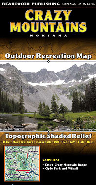 Crazy Mountains Montana - Outdoor Recreation Map