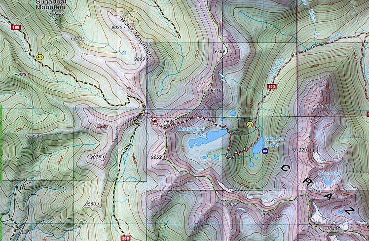 Crazy Mountains Montana Map Outdoor Recreation Map - Montana topo map