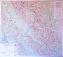 glacier_national_park_map_by_usgs_rolled
