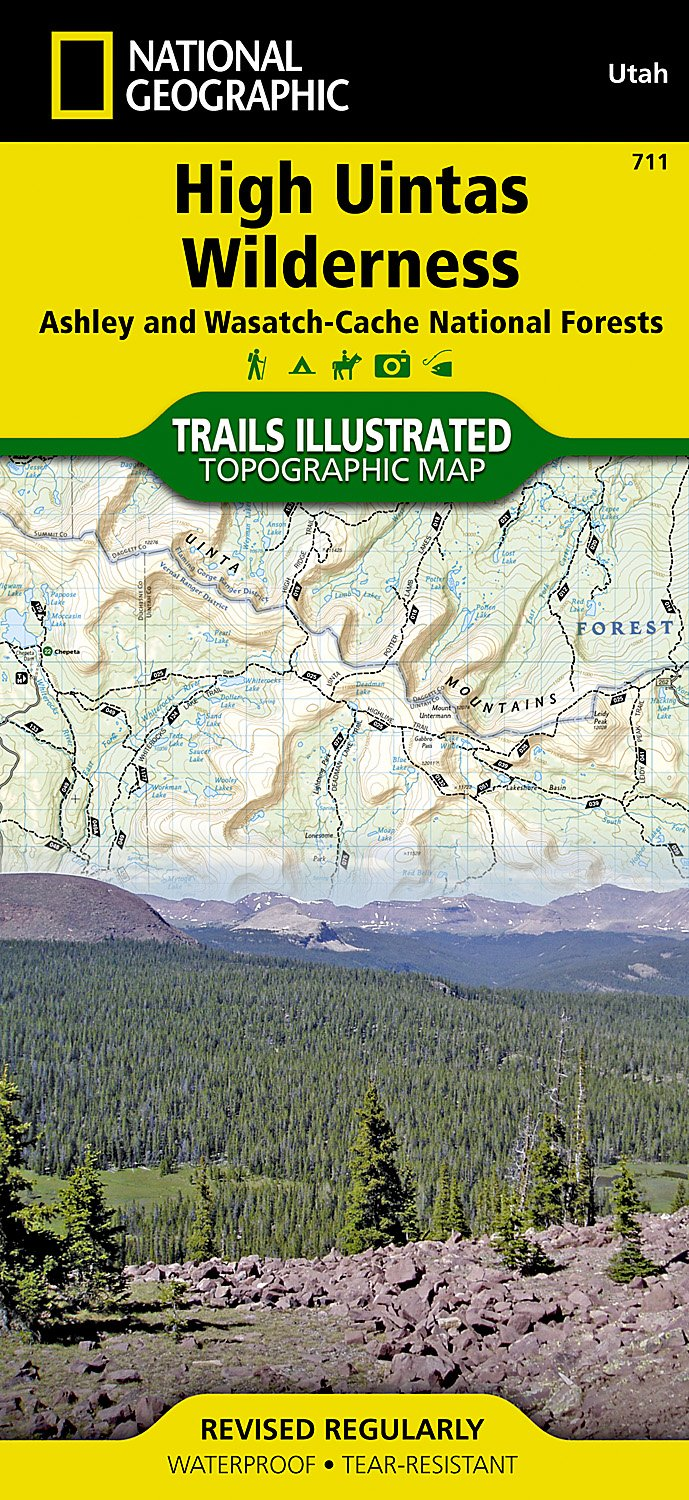 High Uintas Wilderness Map - Rocky Mountain Maps & Guidebooks