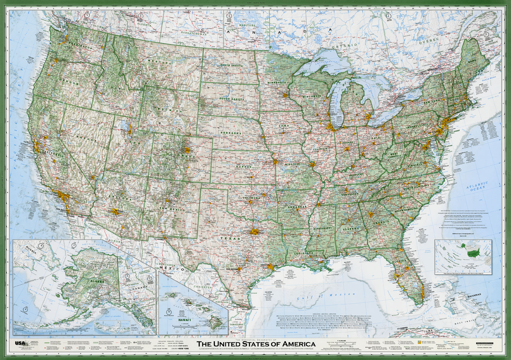 United States Map Imus Geographics Rocky Mountain Maps Guidebooks