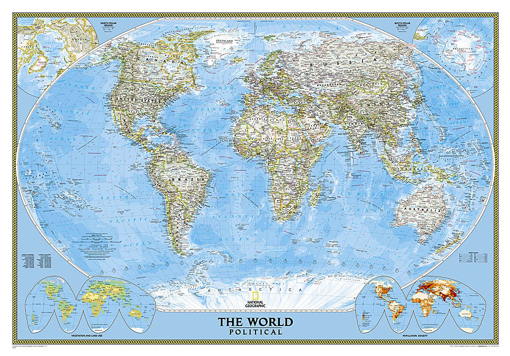 Nat\'l Geographic World Classic Map (laminated) - Rocky ...