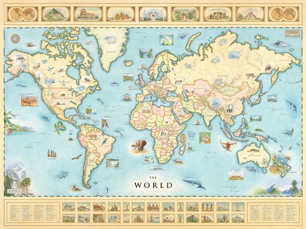 Xplorer Hand Illustrated World Map - Rocky Mountain Maps ...